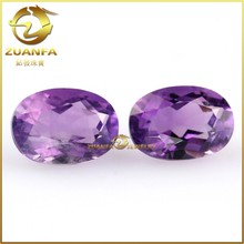 8*10mm oval natural amethyst stone