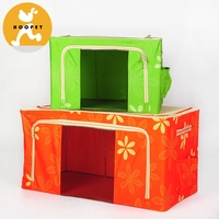 Bright color printing pet carrier and foldable dog house outdoor