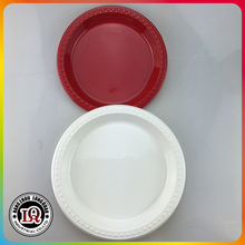 Colorful Plastic Round PS Dinner Fruit Plate