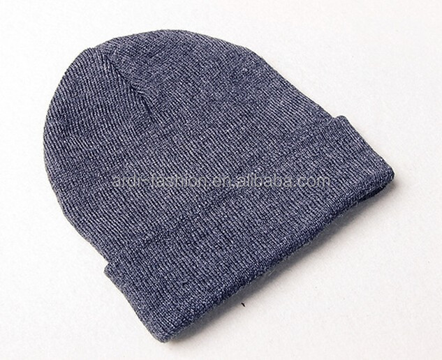 plain knitted ladies and mens unisex cheap beanie hats