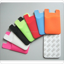3M adhesive sticks card holder for cellphone factory /business credit card holder case wallet