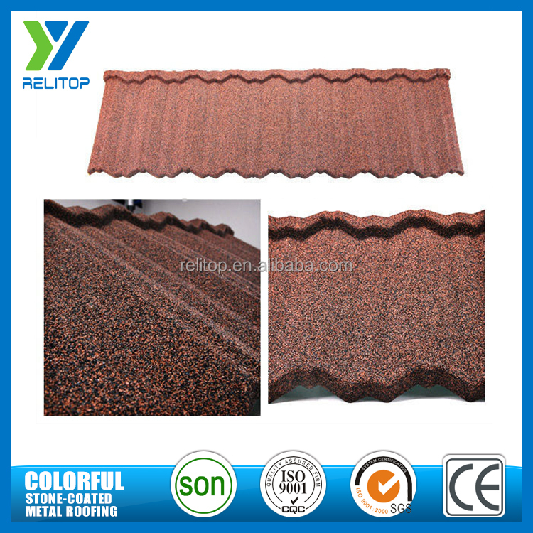 Stone coated wholesale decorative stone chip roof tiles