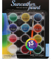 12 ct strips suncatcher paint set, non toxic Paint Set for Kids, Acrylic Paint Suncatcher Painting