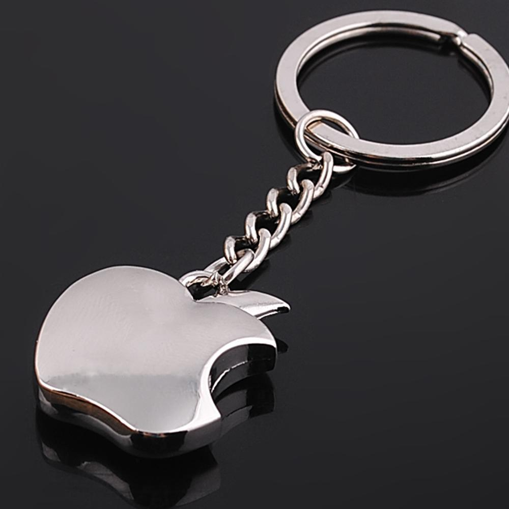 Wholesale Apple Shape Key Chain Classic Novelty Souvenir Alloy Apple Keychain Creative Gifts Alloy Key Ring for Men Women