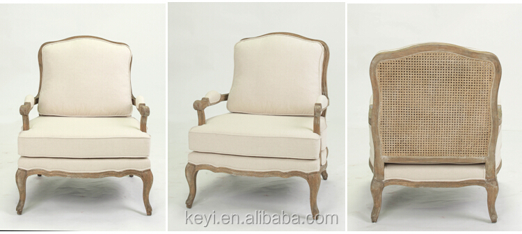 Antique Wooden French Style sofa/armchair(CH-300-Oak)