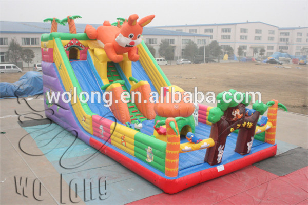 giant slip and slide, inflatable games jumping