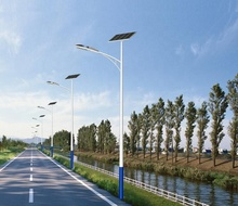 ZM 5years Warranty LED Solar Powered Street Light 6m 40W Solar Pole Led Lamp with Solar Panel