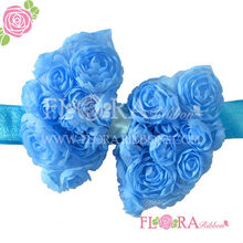 Fashion girl cute flower hair accessories elastic headbands for baby