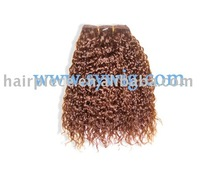 Curly water weaves hair extensions/kinky curly hair extension/indian human hair