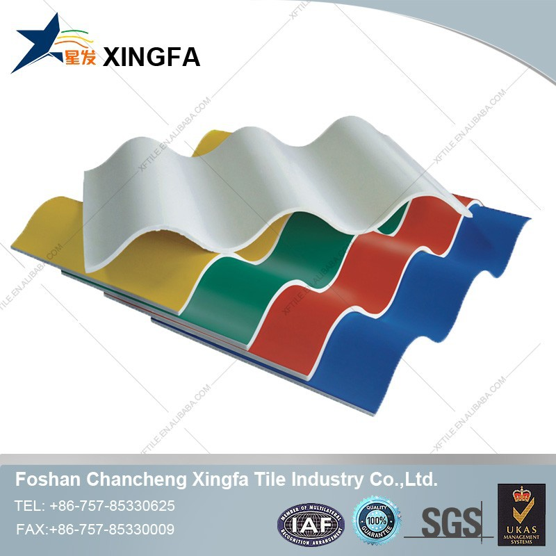 Building Materials Lightweight Roofing Materials PVC Plastic Curved Roofing Sheet