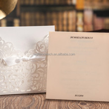 Wholesale gold Laser Cut Wedding invitations Cards set with Envelope and Seals