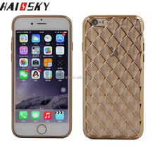 Wonderful Small Leather Electroplating TPU Mobile Phone Case for iphone 6/6 plus