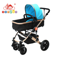 New design luxury 2 in 1 baby stroller with 360 swivel wheel