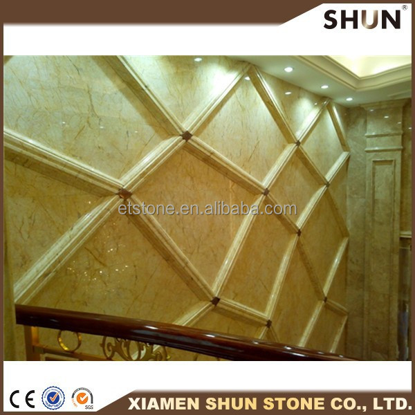 2015 new design 3d stone carving decorative stone for tv wall