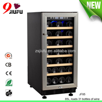 JF85 85L loading 31 bottle of wine hot selling product thermostatic wine cooler with CCC CE GS RoHS approval
