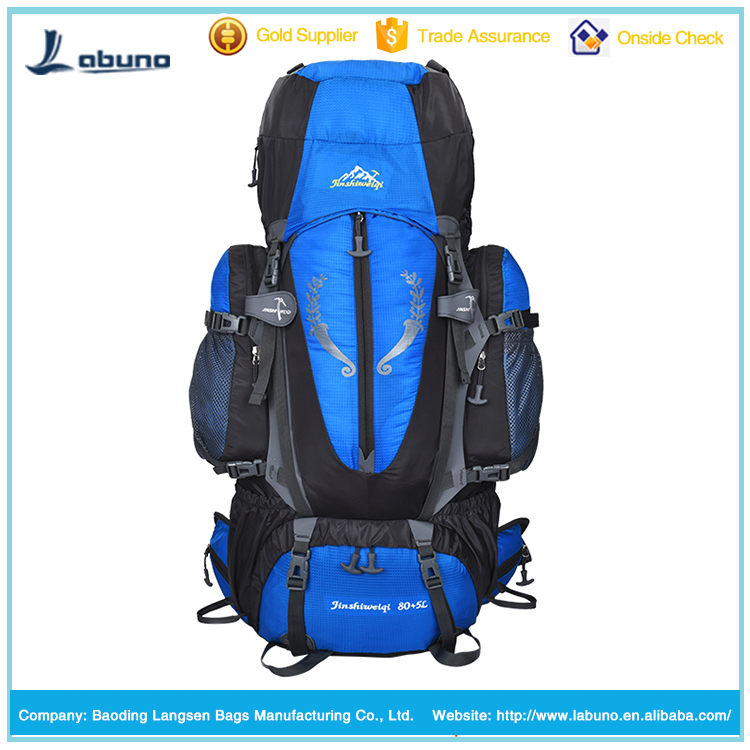 Outdoor 70L+10L Hiking Backpack 80l Traveling Hiking Backpack Professional Mountaineering bag in design pattern