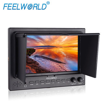 1024x600 resolution led lcd montor 7 inch sdi hdmi port tally indicator false color feature sunshade include camera screen