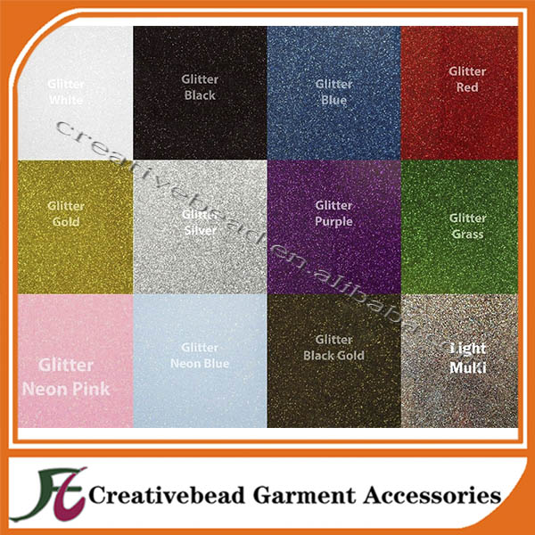 Glitter flex HTV heat transfer vinyl cutting sheets