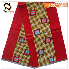 Trustwin african java wax materials red and gold color ankara