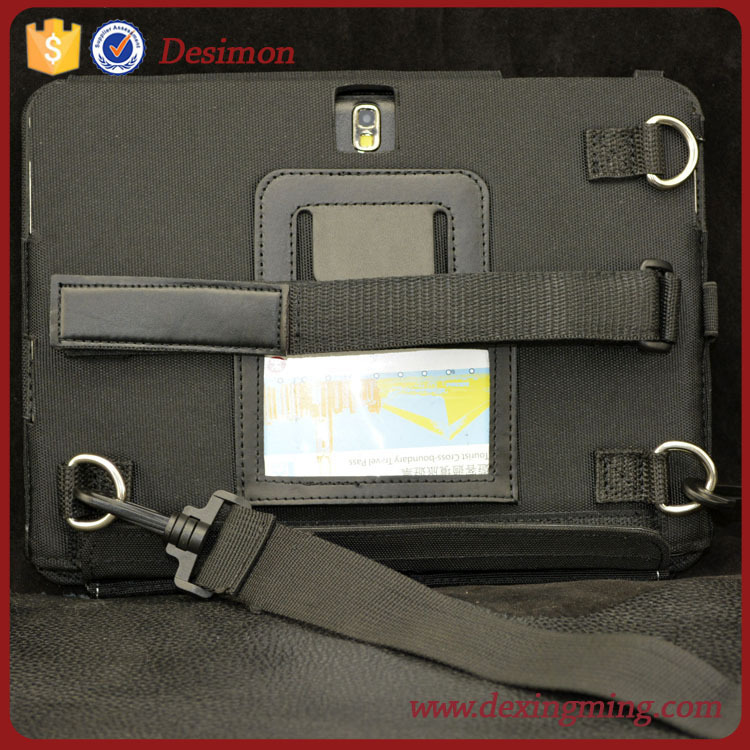2015 brand desimon handheld cordura fabric tablet case for lenovo a5000 with neck strap/lanyard
