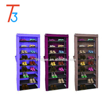 Non- woven fabric Dust-proof shoe storage organizer modern tall shoe cabinet