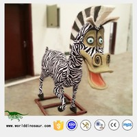 Indoor Playground Large Size Outdoor 3D Cartoon Animal Figurines