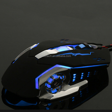 White 4000 DPI Optical Ergonomic Wired Gaming Mouse 6 Buttons With LED Backlight Quick Delivery Gold Supplier