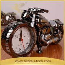 Fashion Creative table Decorative Metal Motorcycle Model Alarm Clock