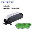 Downtube Lithium battery 48v 13.6ah 13s4p 652wh electric bicyle battery pack victpower