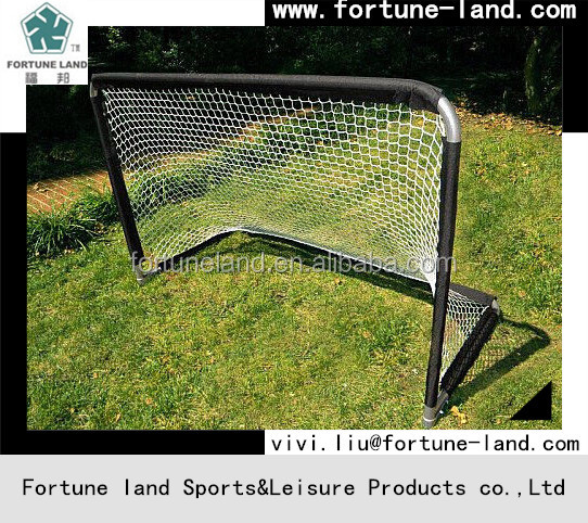 Practice Partner Foldable 4 X 6 Hockey and Soccer Goal Silver frame