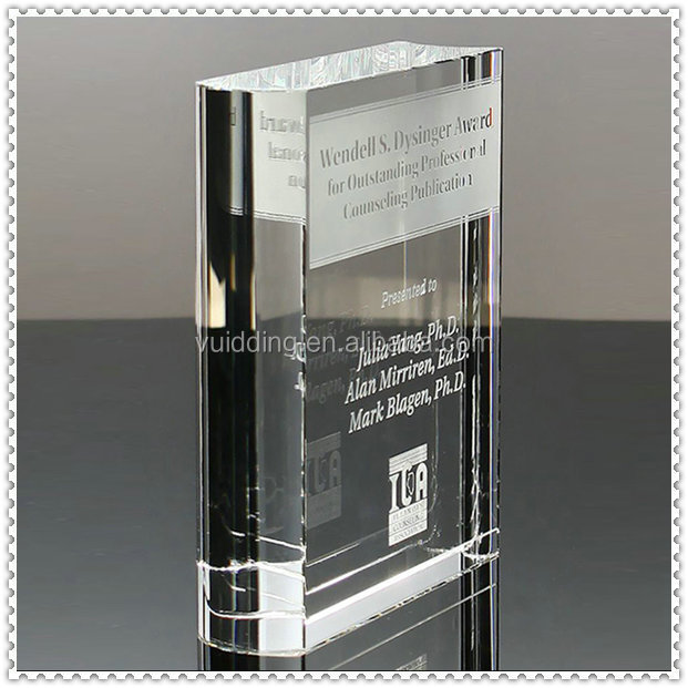 Creative Engraved Crystal Books Trophy For Teacher Gifts Decoration