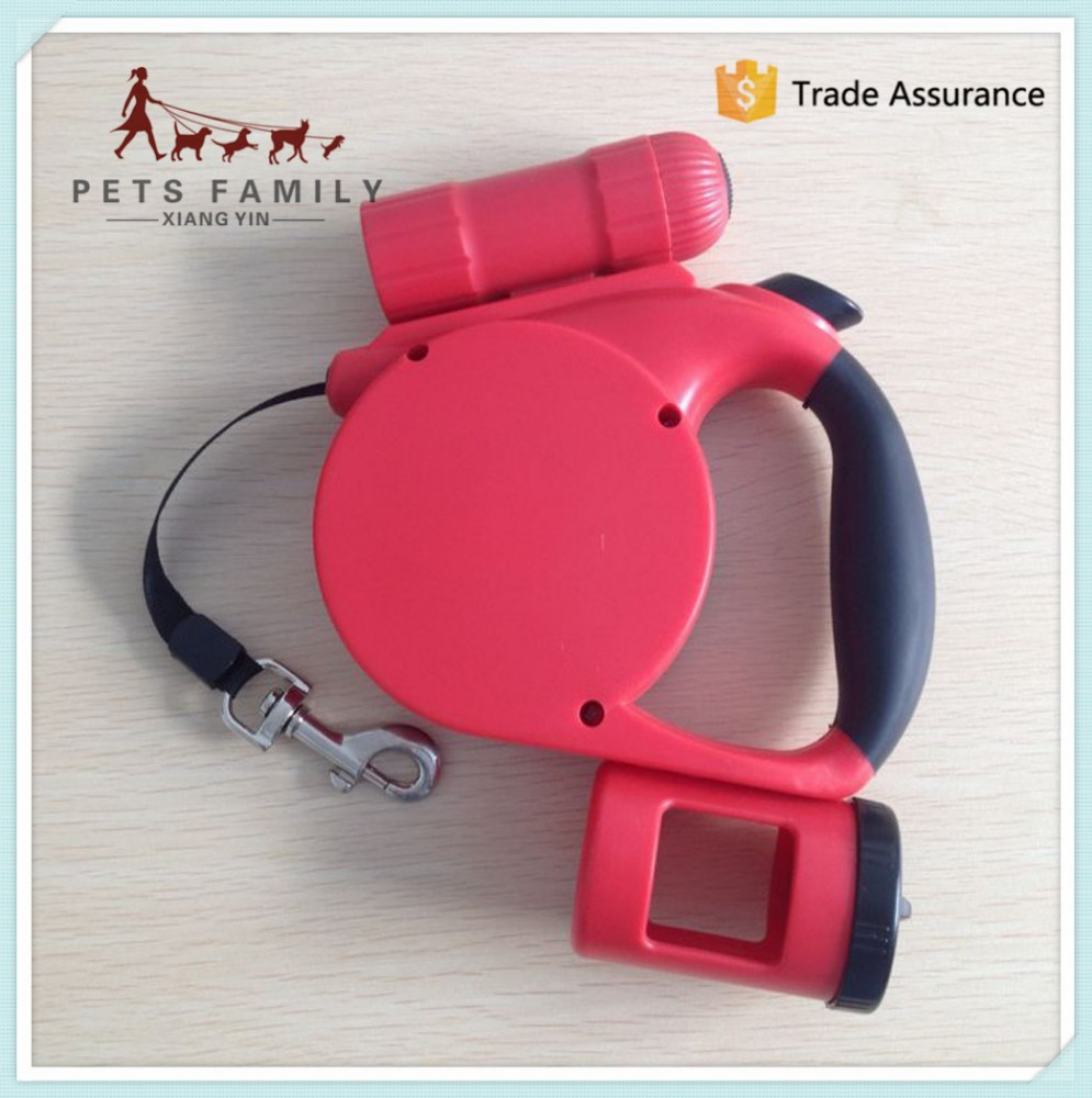 wholesale new arrive Led light dog leash/pet leash come with garbage bags