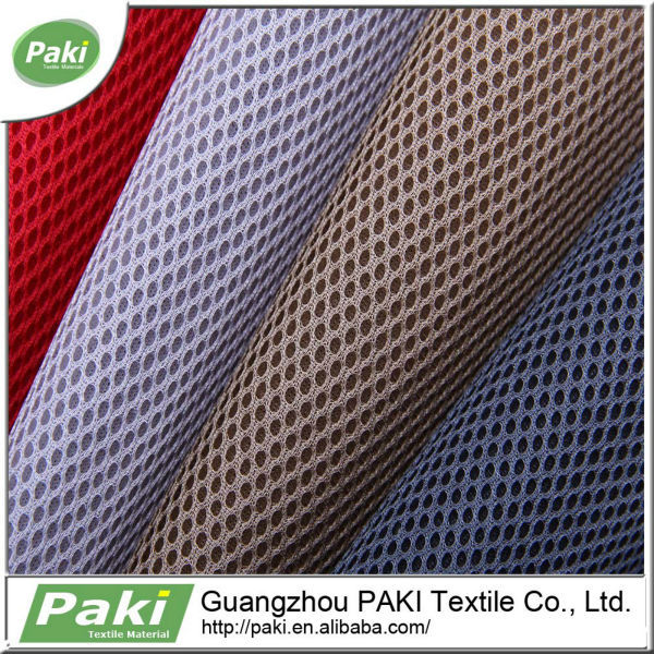 100% polyester breathable 3d air mesh fabric for motorcycle seat cover