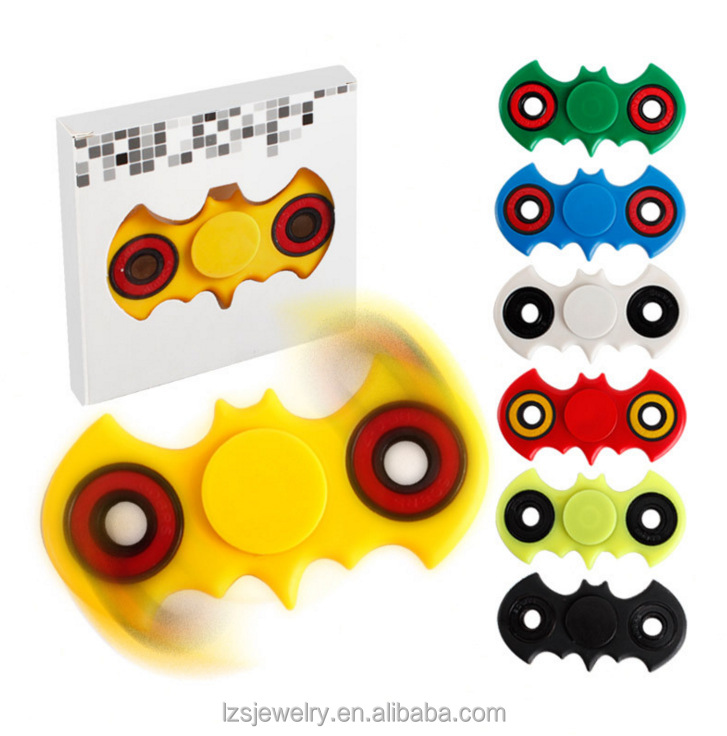 ABS Plastic Bat Shape Stress Relief <strong>Toy</strong> Colorful Fidget Hand Spinner <strong>Toys</strong> For Adult