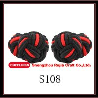 Fashion Accessory Mens Silk Knot Button
