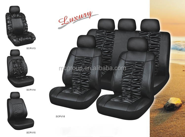 Provide full set soft durable PVC Leather ,Polyeater seat covers