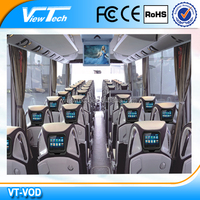 10.1-inch bus multimedia system with server and satellite TV