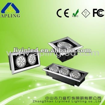 High Power 12W Led Grid Ceiling Light with CE&ROSH