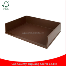 Custom Manufacture Wholesale Stacking Construction Brown Letter 3 tier wooden puzzle box tray