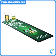 Nitrile rubber counter mat promotional natural rubber bar mat with CMYK design