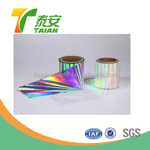 Rainbow photo christmas wrapping paper holographic laminating film