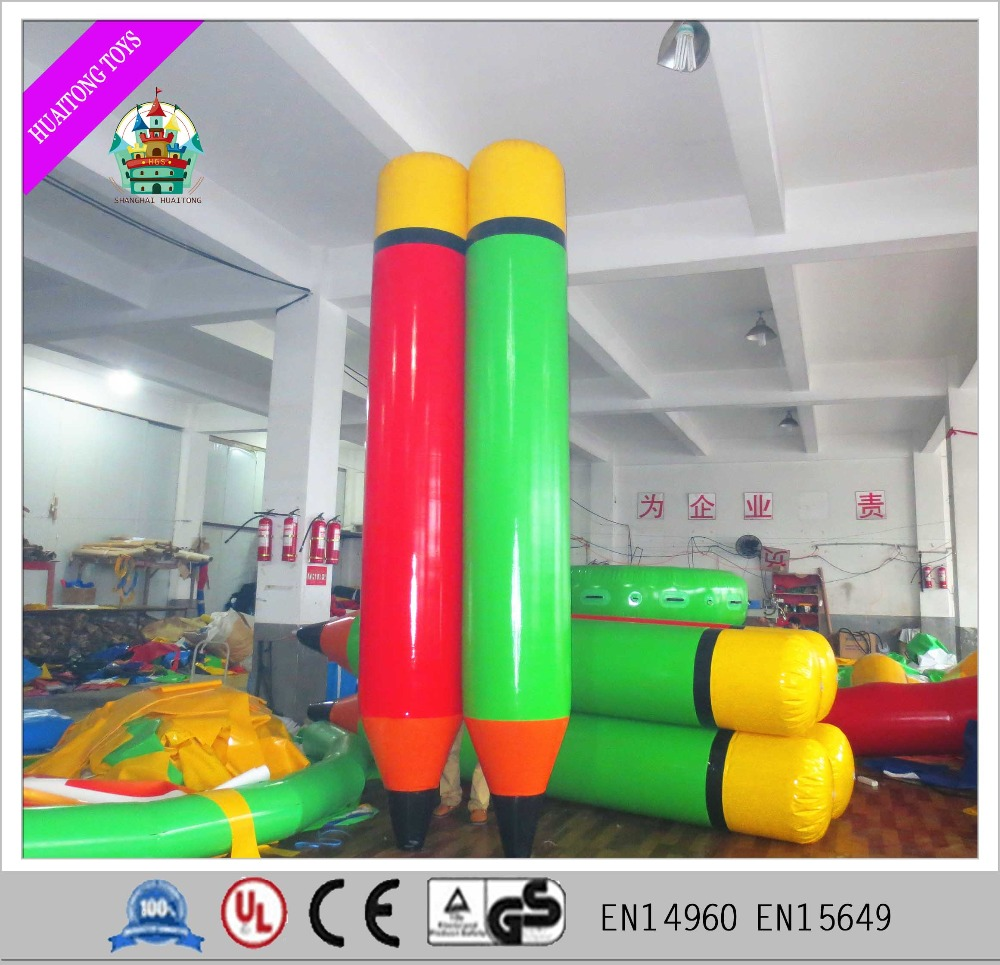 Outdoor event game decoration giant inflatable pencil for teamwork games
