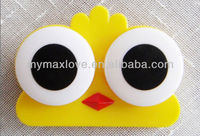 plastic Cute cheap cartoon contact lens box case owl