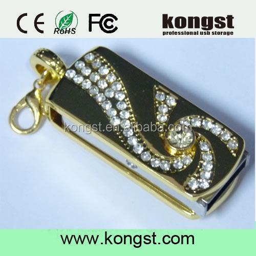 Metal Diamond Jewelry luxury design Usb Flash Drive Disk Memory Stick