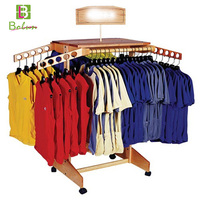 Advertising garment store t shirt double sided hook socks unique design display stand rack clothing store boutique rack