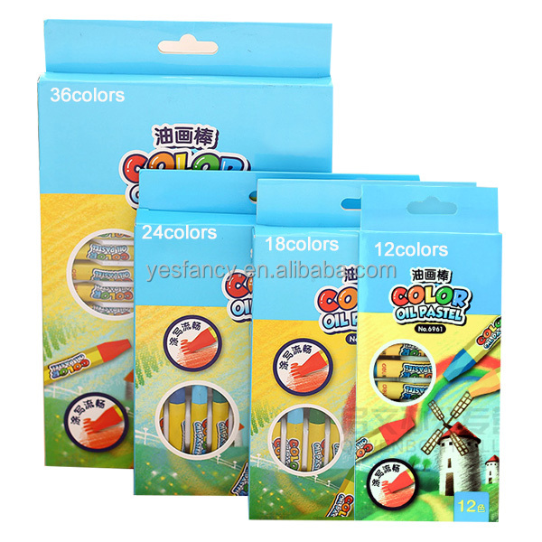 high quality 36 colors hexagonal oil pastel making machine oil pastel crayon