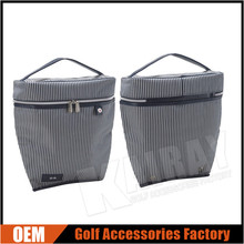 Custom Stripes Leather Golf Shoes Bags Foldable Golf Club Shoes Bags