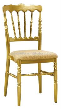 Beautiful aluminum Napoleon chair for wedding