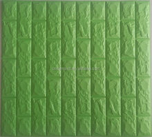 Easy Installation self adhesive stone wall tile curtain facade wood stick panel