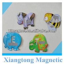 Animal Design and English Letter for Learning Paper Fridge Magnet